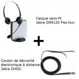 Jabra GN9120 Flex Duo + Décroché électronique DHSG Mitel (Aastra)