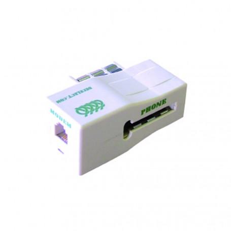 Decelect Forgos DECELECT Filtre ADSL Gigogne / RJ11 (Connectique téléphonique)