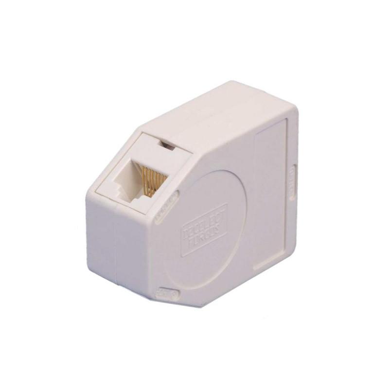 Decelect Forgos DECELECT Dédoubleur compact RJ45F / 2 x RJ45F Cat.5E UTP (Connectique téléphonique)