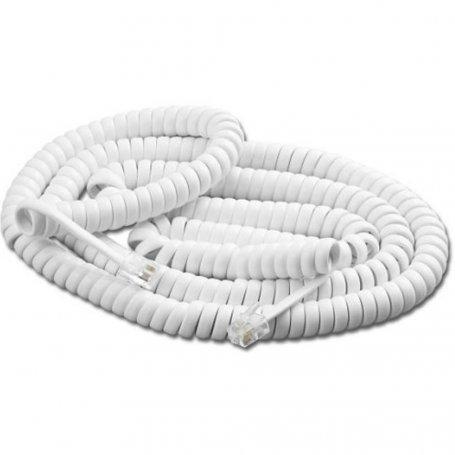 Parallèle Cordon de combiné RJ9/RJ9 - L : 5m (étiré) - Blanc (Cordons de combiné)