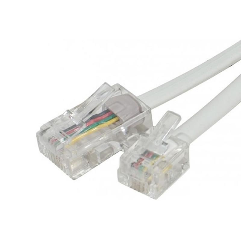 Parallèle Cordon de ligne RJ11/RJ45 (câblée 4-5) - L : 5m - Blanc (Cordons de ligne )