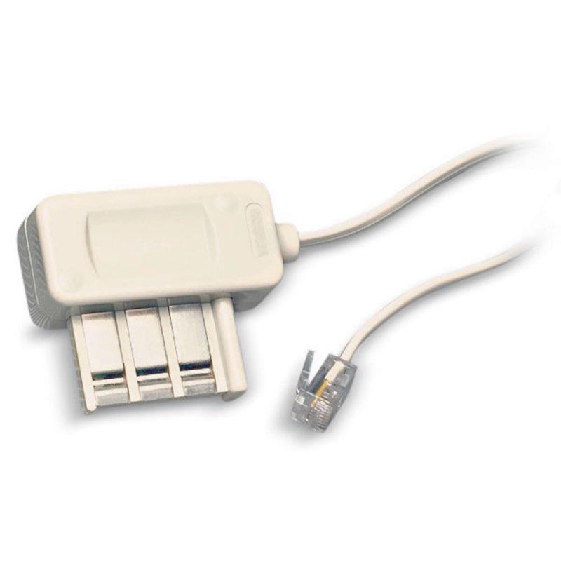 Parallèle Cordon de ligne RJ11/T (câblé 4-5) - L : 3m - Blanc (Cordons de ligne )