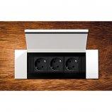 Bachmann Power Frame Cover 3 modules (Inox blanc)