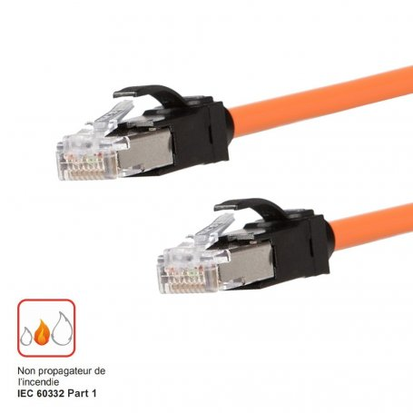 Cordon RJ45 LANmark 6A U/FTP LSZH - 1m - Orange