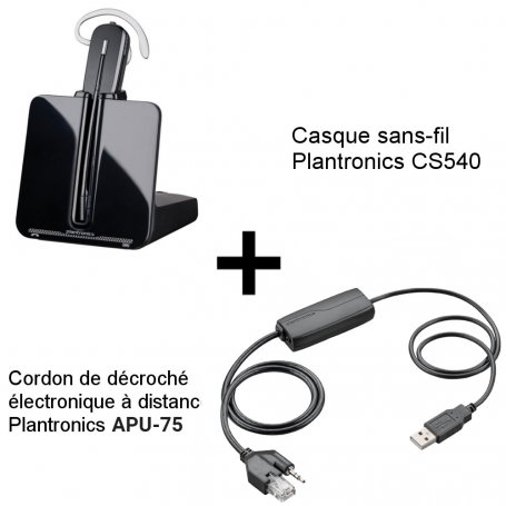 Plantronics CS540 + Décroché APU-75 Alcatel-Lucent et Mitel