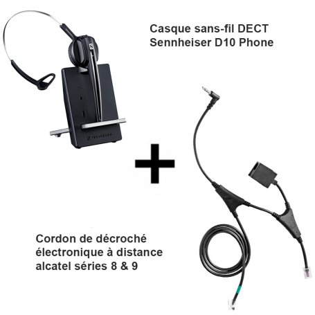Sennheiser D10 Phone + Décroché Alcatel séries 8 & 9