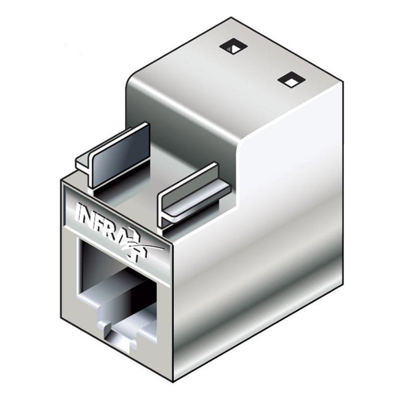 Infraplus INFRAPLUS Connecteur RJ45 femelle blindé Catégorie 6 (pour câble rigide) (Connectique)