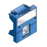 Plastron RJ45 adaptable 45x45mm Bleu