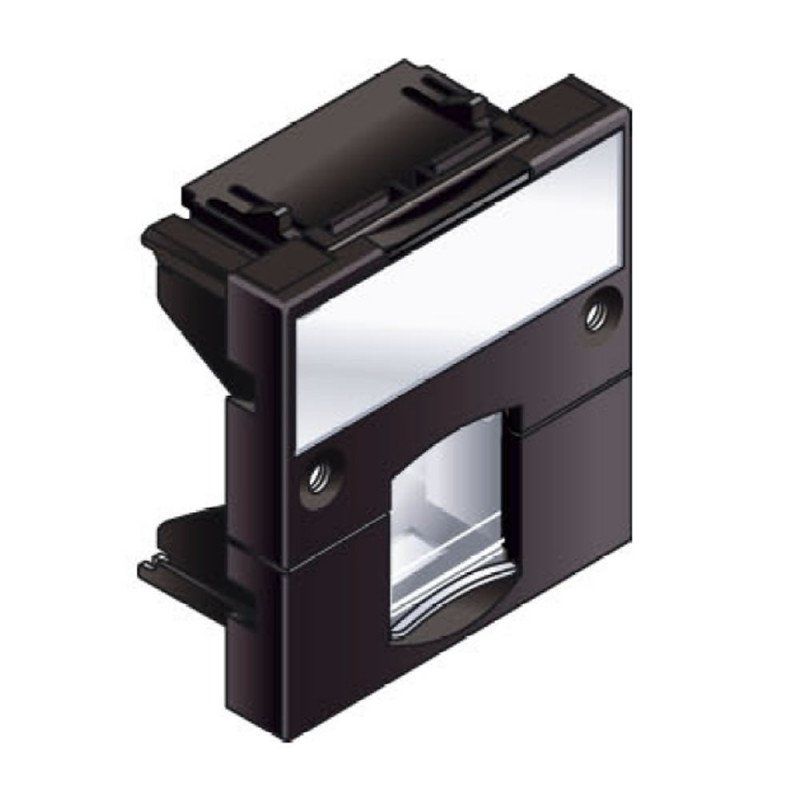 Infraplus Plastron RJ45 adaptable 45x45mm Noir (Connectique)