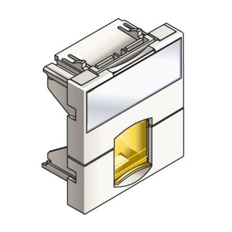 Infraplus Plastron RJ45 blanc 45x45mm (volet Jaune) (Connectique)