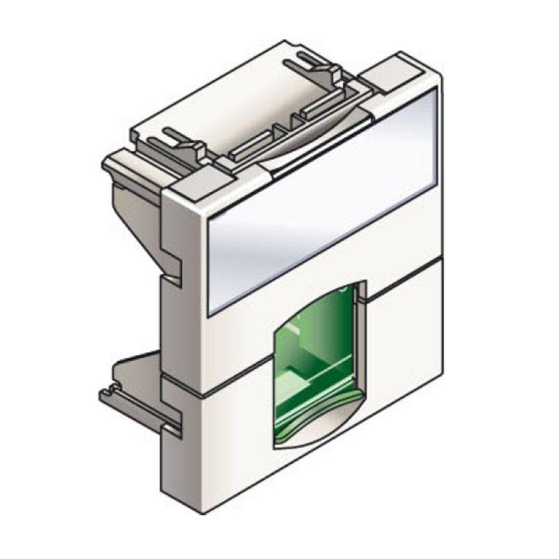 Infraplus Plastron RJ45 blanc 45x45mm (volet Vert) (Connectique)
