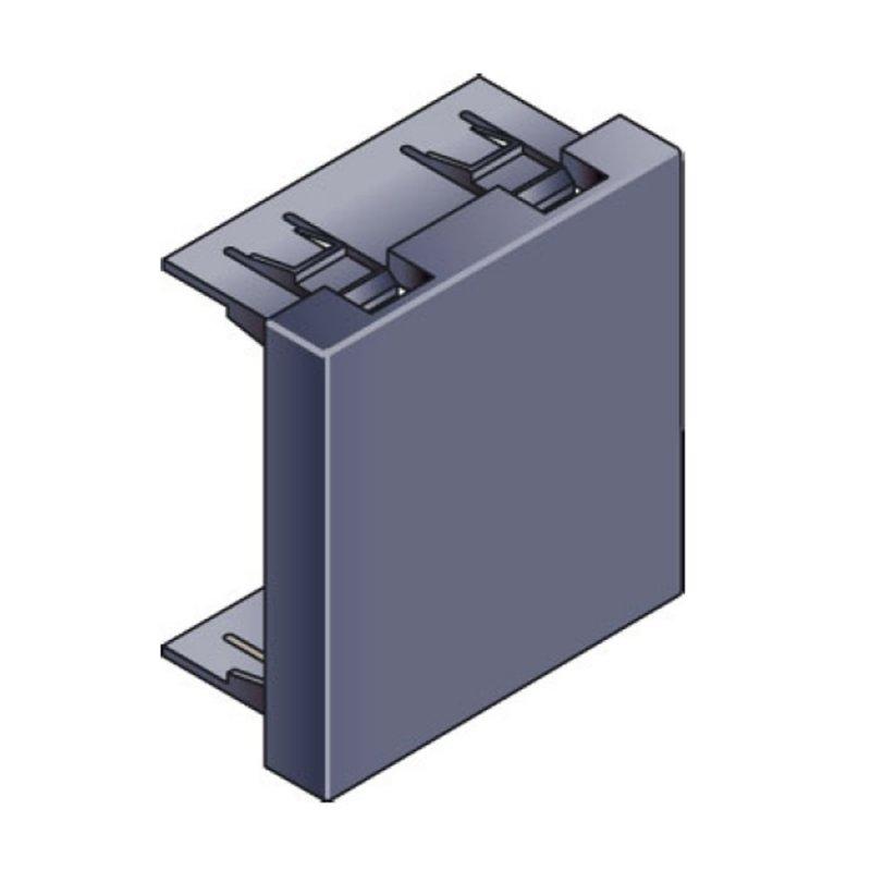 Infraplus Obturateur Gris foncé 45x45mm (Connectique)