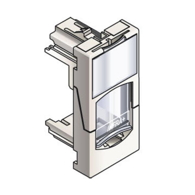 Infraplus Plastron RJ45 blanc 22.5x45mm (volet Incolore) (Connectique)