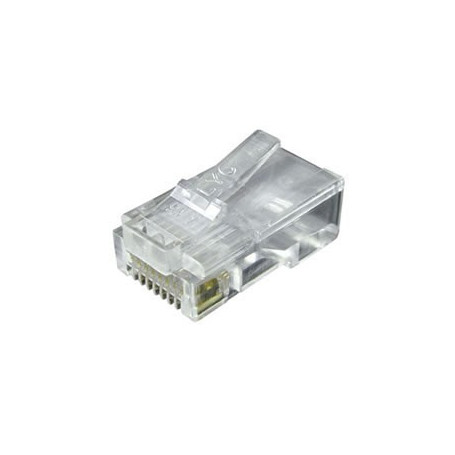 Divers Connecteur mâle RJ45 (8 contacts) pour câble plat (Connectique téléphonique)