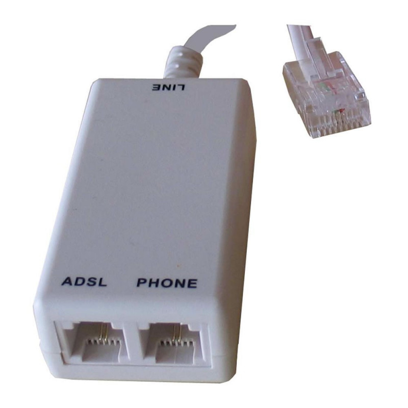 Decelect Forgos DECELECT Filtre ADSL RJ45 / 2 x RJ11 avec cordon L : 125mm (Connectique téléphonique)
