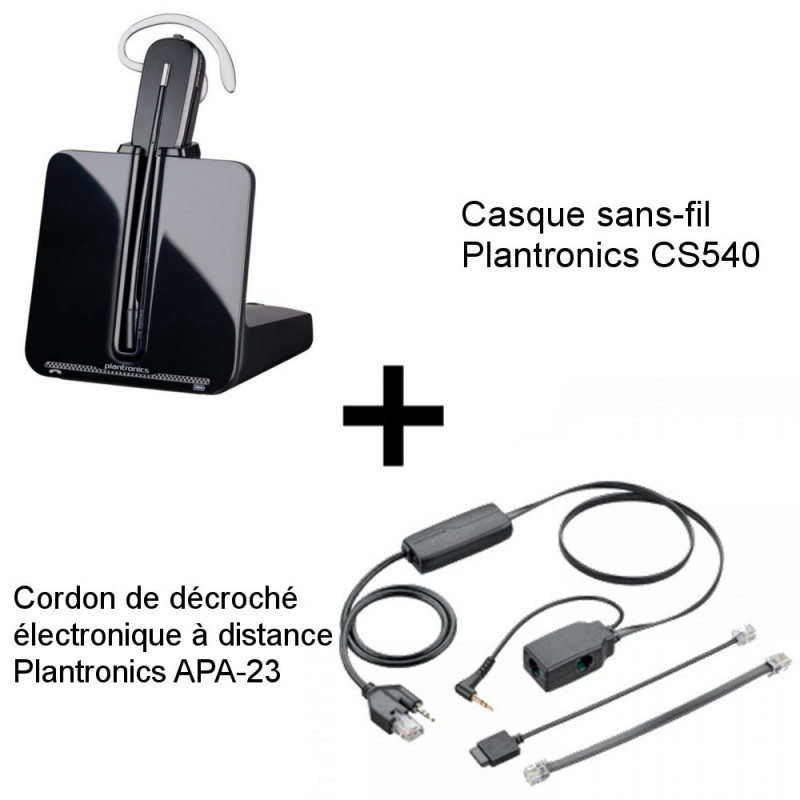 Plantronics CS540 + Décroché APA-23 Alcatel-Lucent
