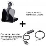 Plantronics CS540 + Décroché APS-11 Mitel (Aastra)