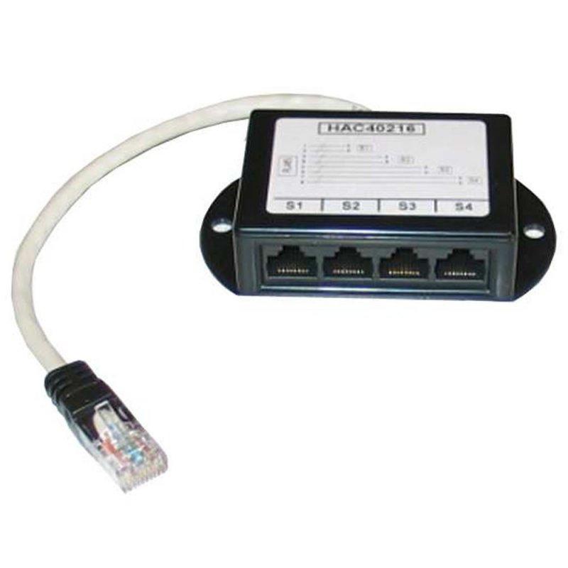 Decelect Forgos DECELECT Harmonica + cordon de 20cm - 4 voies RJ45 UTP câblées 4-5 (Connectique téléphonique)