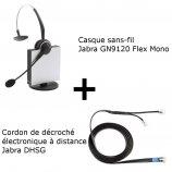 Jabra GN9120 Flex Mono + Décroché électronique DHSG Mitel (Aastra)