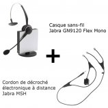 Jabra GN9120 Flex Mono + Décroché électronique MSH Alcatel-Lucent