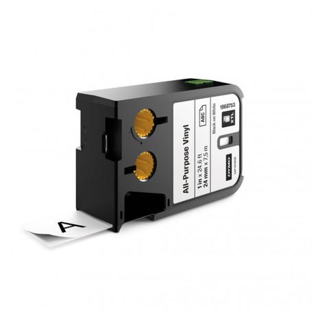 Dymo XTL Ruban (7.5m) d'étiquettes vinyle 24mm - noir sur blanc