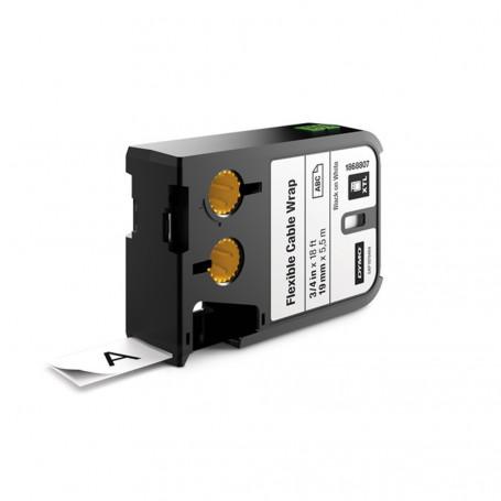Dymo XTL Ruban d'étiquettes nylon 19mm - noir sur blanc