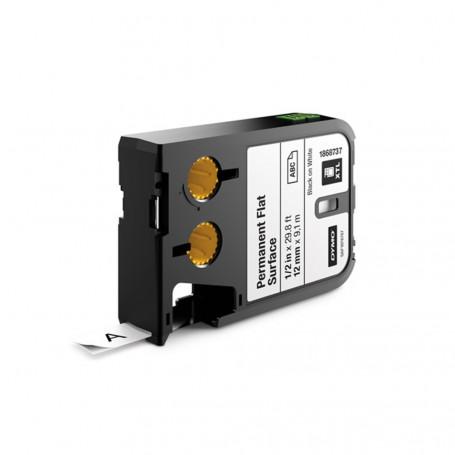 Dymo XTL Ruban d'étiquettes pemanentes 12mm - noir sur blanc